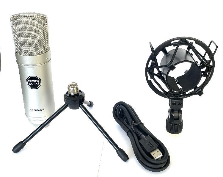 Powerworks sc100 usb studio condenser microphone