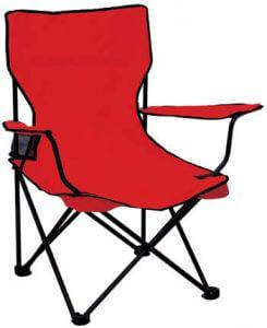 Totally camping chair colour red retail box no