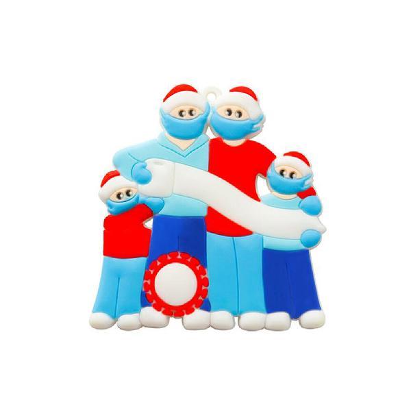 Type #4)christmas tree ornaments pvc blue 2020 theme family