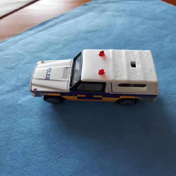 Old used real toy.mercedes benz g police wagon 1/57.made in