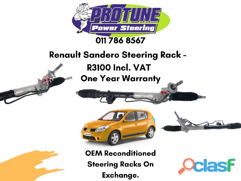 Renault Sandero   OEM Reconditioned Steering Racks