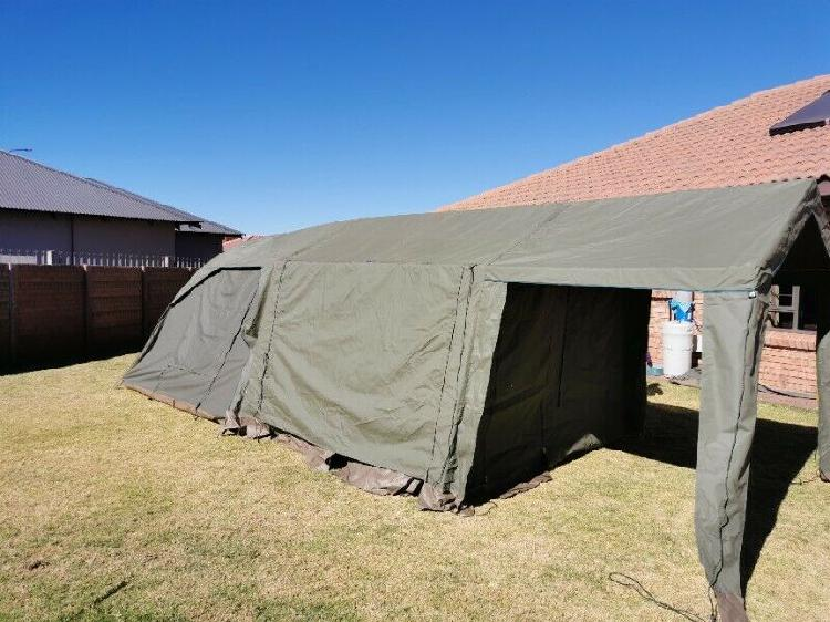 Canvas tent with extention
