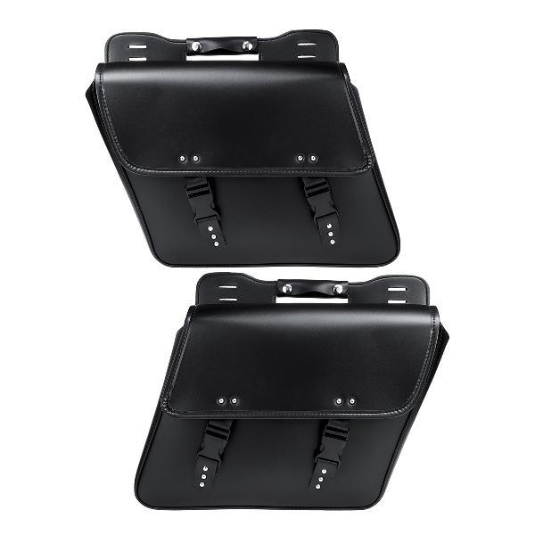 Motorcycle saddlebags tool luggage saddle bag black pu