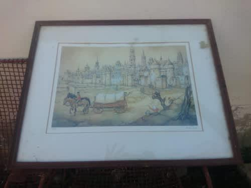 Cool limited edition signed print by anton pieck