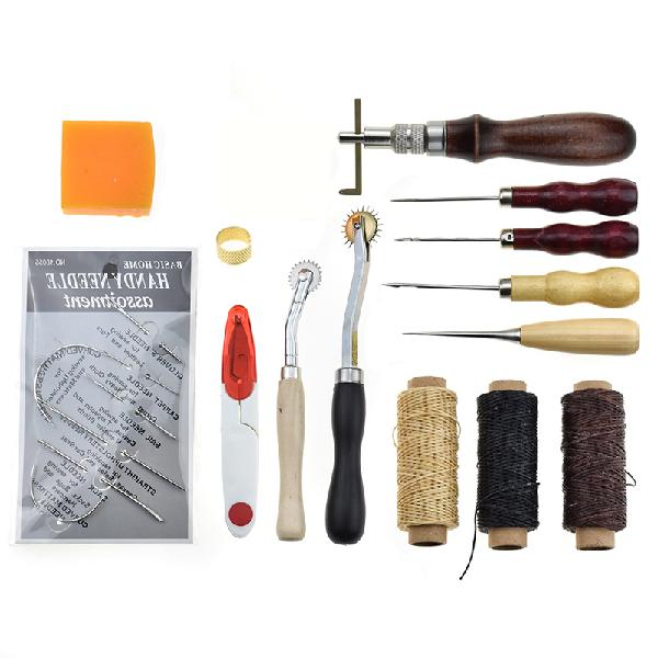 Leather craft package handmade leather goods sewing kit set