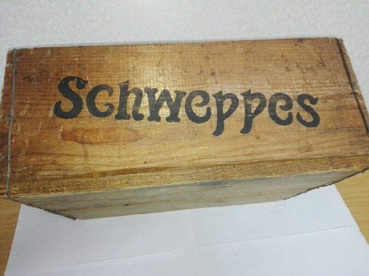 Antique Schweppes Soft Drink Wooden Crate - G010