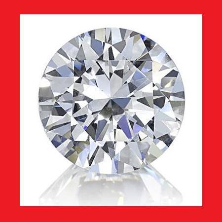 CUBIC ZIRCONIUM - AAA DIAMOND WHITE ROUND FACET - 2.87cts