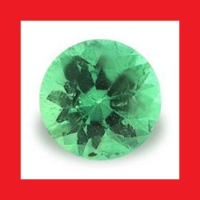 EMERALD [Africa] - VIBRANT GREEN ROUND FACET - 0.12cts
