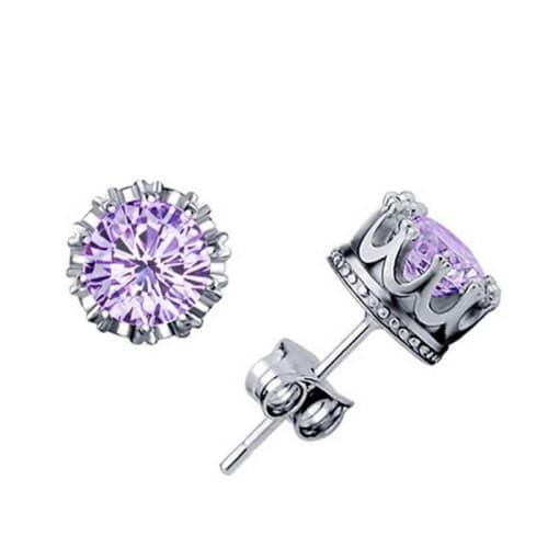 Fashion crown stud earrings for women girls (k6773)