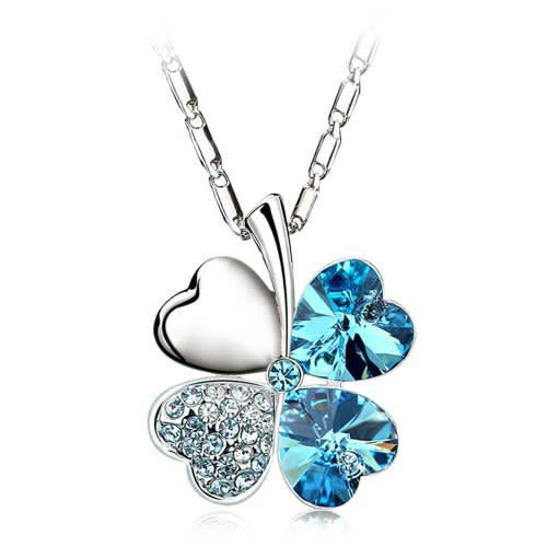 Four leaf clover necklace pendant fashion jewelry ws1918