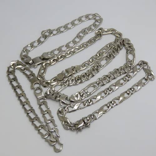 Lot of 5 silver look-alike bracelets - never worn