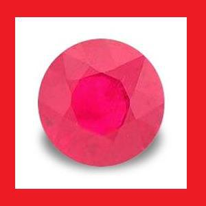 RUBY (Madagascar) - Pigeon Blood Red Round Facet - 0.21cts
