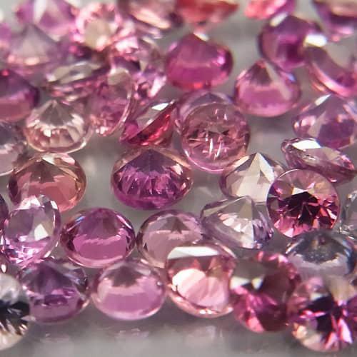 Sapphire 1Pcs/0.06Ct Round Diamond Cut 2.2mm.Beautiful
