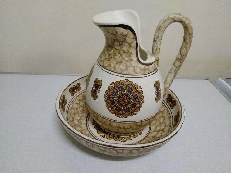 Wash Stand, Ornate Porcelain Set.