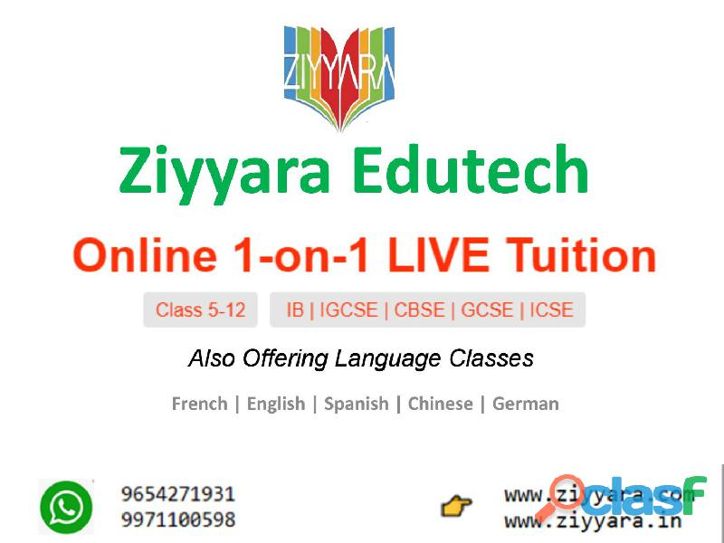 One To One Online Live Interactive Tuition