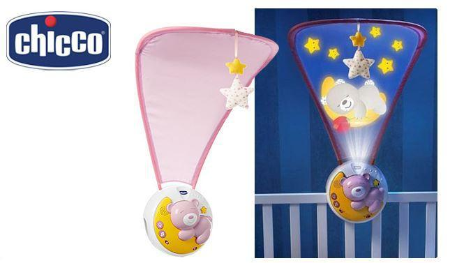 First dreams next2moon projection cot mobile - pink