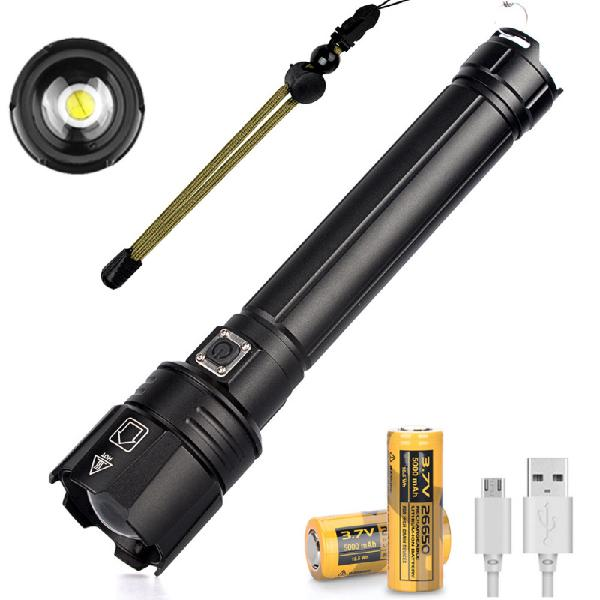 Xanes p90.2 2000lm usb charging zoomable led flashlight 3