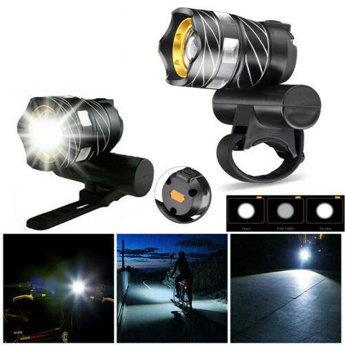 Xanes xl44 650lm t6 led zoomable bike headlight usb charging