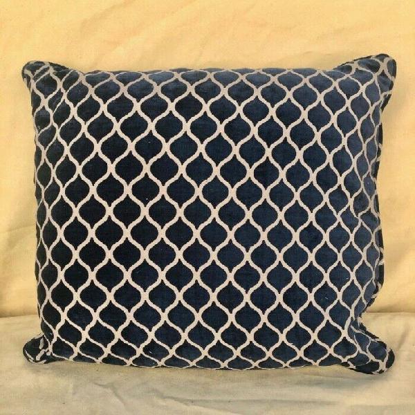 Blue & white large continental pillows (3 pcs)