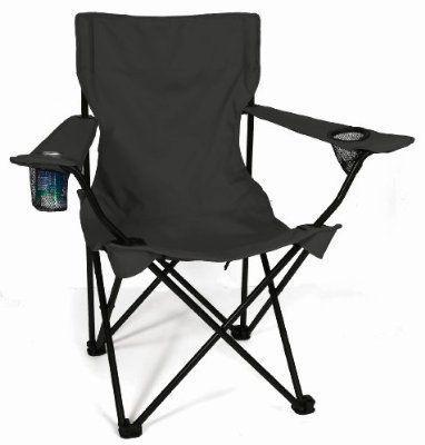 Totally camping chair colour black retail box no