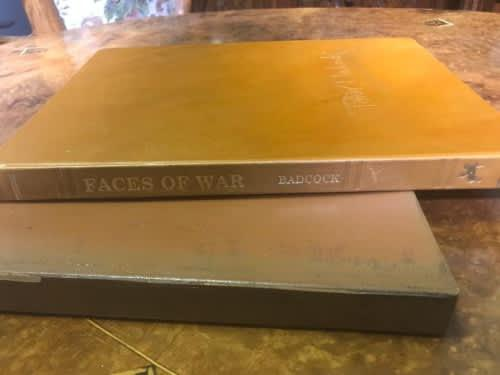 Faces of war limited edition signed leather bound peter