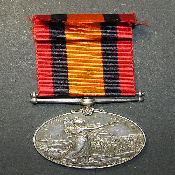 Full size qsa medal to: 29601 clr.sergt: r.scaddon.rand