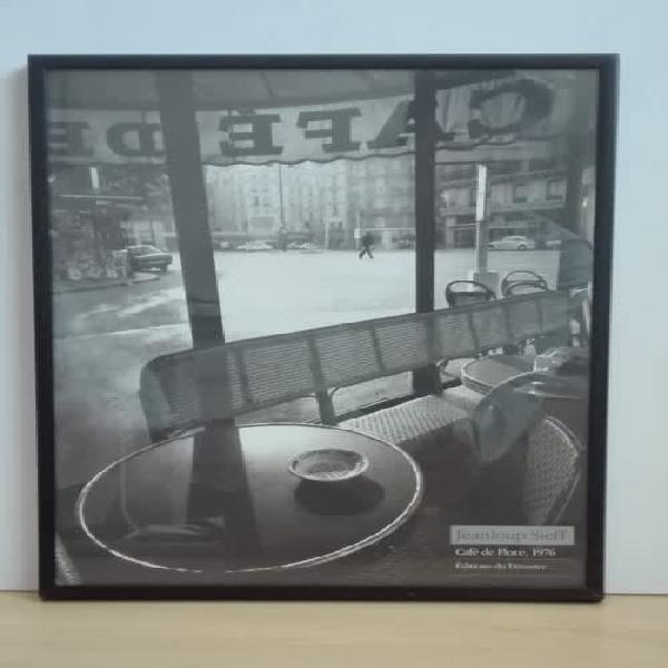 Framed black & white photograph - jeanloup sieff - cafe de