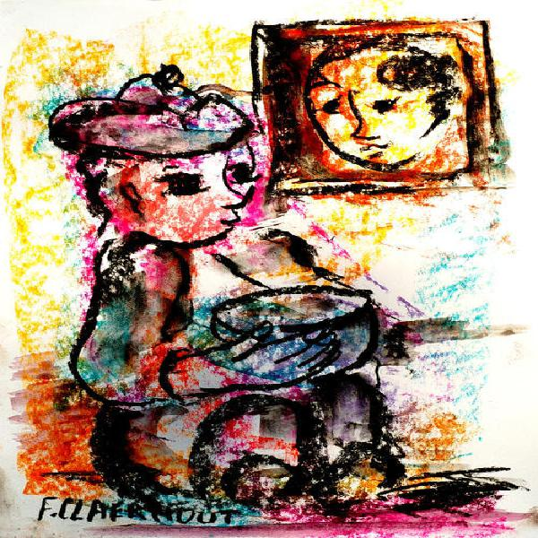 Frans claerhout (sa 1919-2006) print cla-037 on the paper