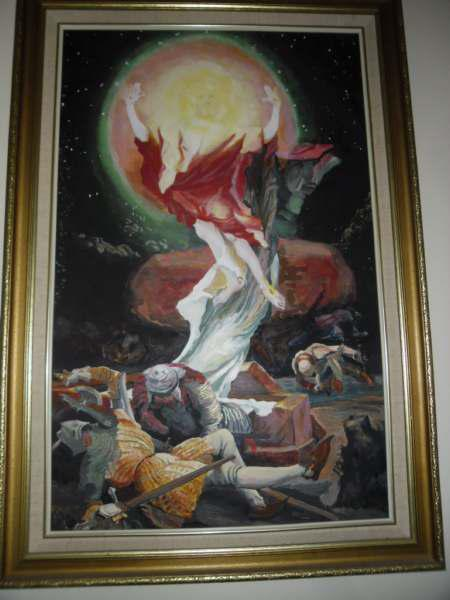 Oil on board the resurection of christ: cape town artist