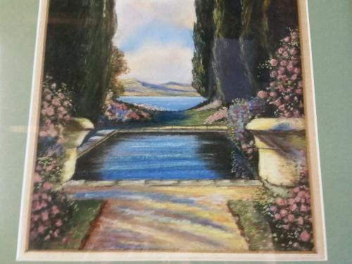 Original old watercolour by artist m.e. bourhill 1962 valued