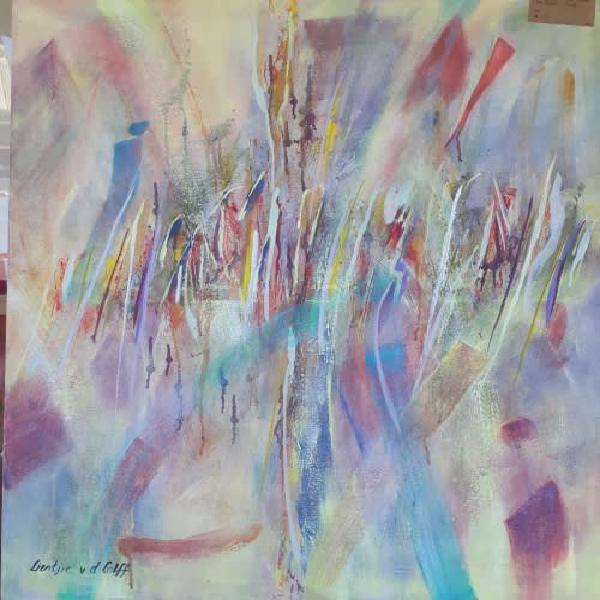 Rainbow bridge abstract original south african art