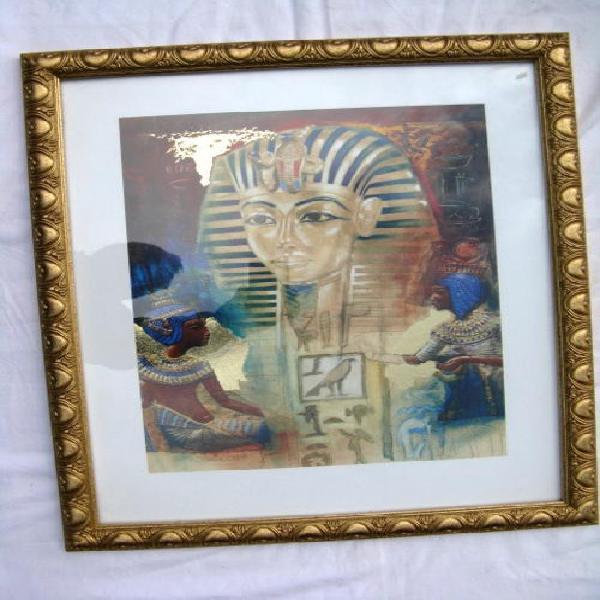 Framed print: egyptian: joadoor: framed size 45x55cm