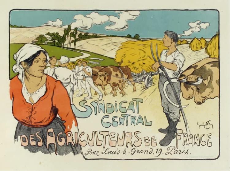 French print - des agricultuer - a beautiful vintage print!