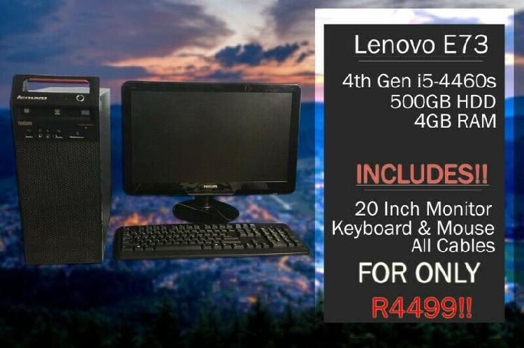 Lenovo e73 4th gen i5 desktop