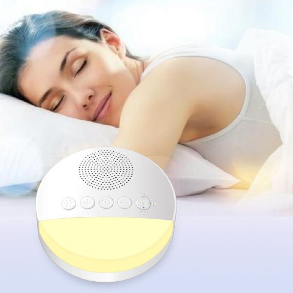 Baby toy white noise machine with night light timer memory