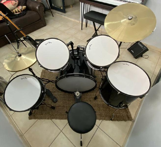 Darestone 5 piece rock soze drum kit black
