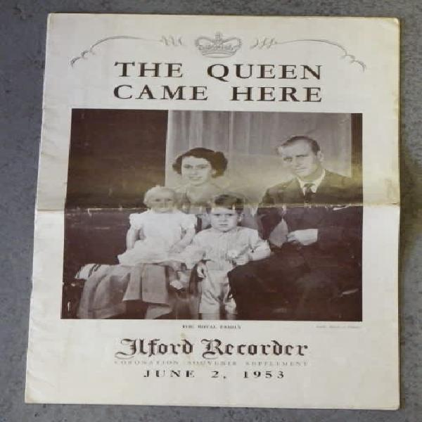 The queen came here - ilord recorder june 2, 1953 -