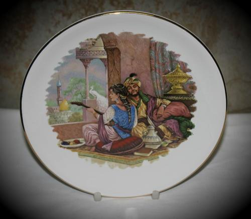 Vintage collectors porcelain wallplate by ab ceramics 180mm