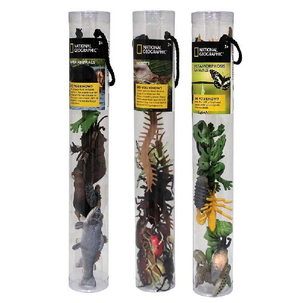 National geographic - insect and river animals tube bundle