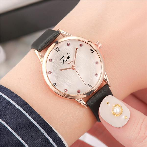 Fashion casual elegant sport women watches leather band dial