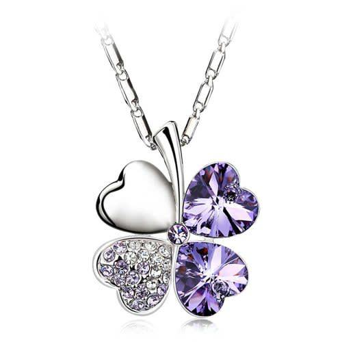 Four leaf clover necklace pendant fashion jewelry ws1920