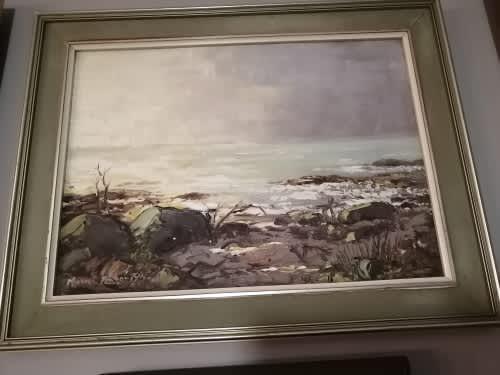 Michael albertyn original oil on board - investment art