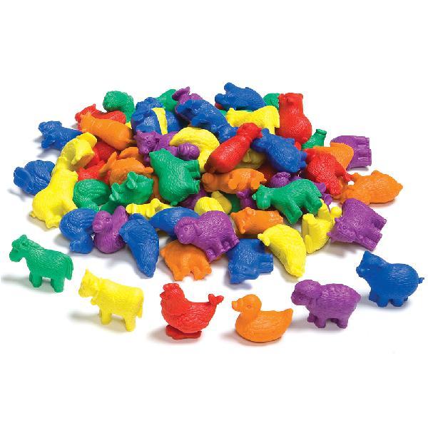 Edx education - counters - farm animals 6 colours - 72pc