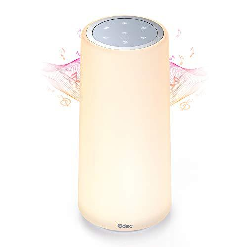 White baby sound machine with night light, noise machine for