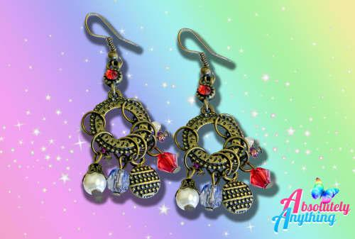 Wholesale - 4 pairs of fashion plated long earrings