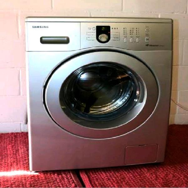 8kg samsung silver diamond drum front loader washing machine