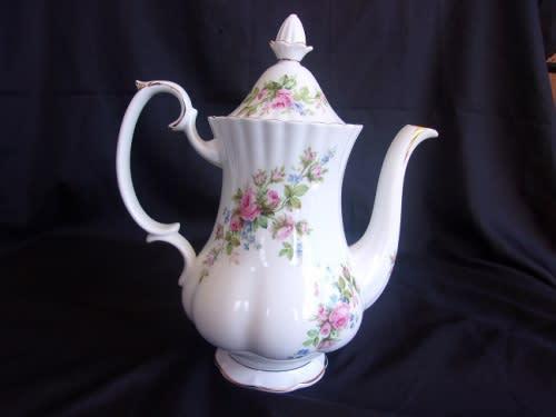 Vintage royal albert moss rose coffee pot - lid knob