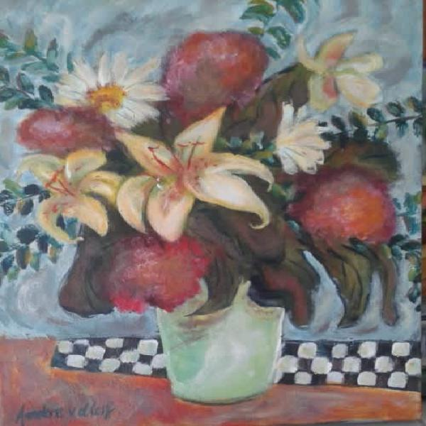 Florals for loretta - original south african art