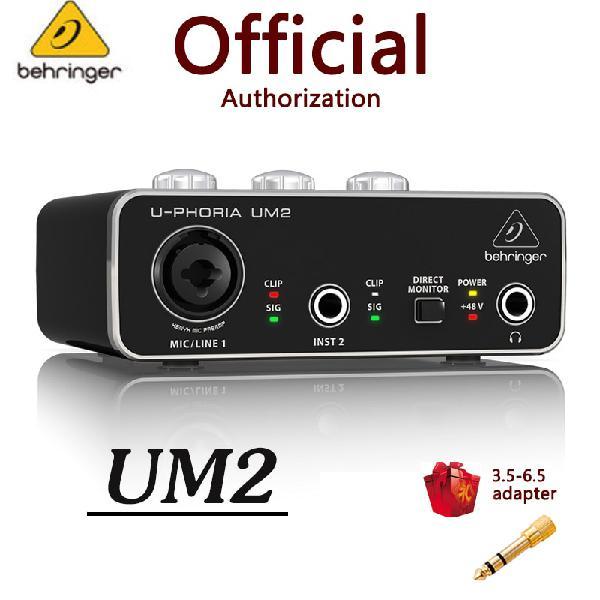 Behringer u phoria um2 umc22 audio interface mic amplifier