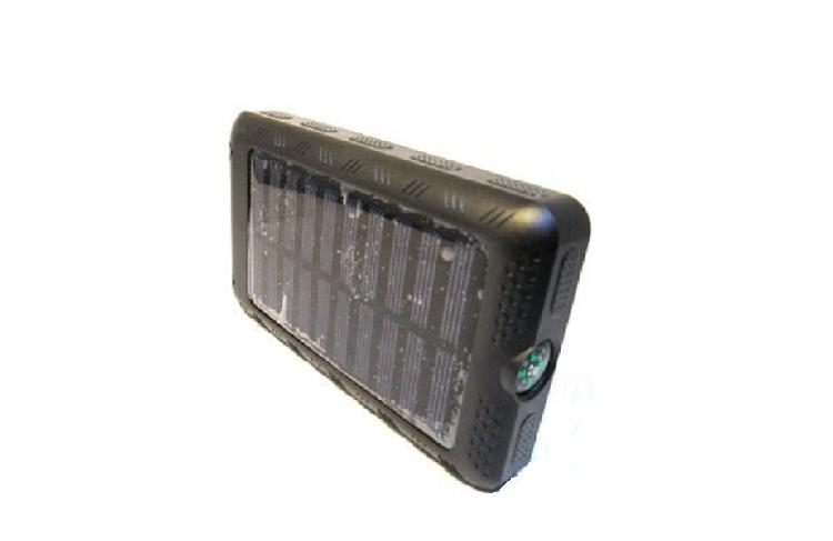 Portable solar power bank with light and compass - 15000mah